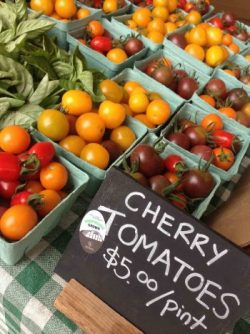 Photo of cherry tomatoes at the Farm's market.